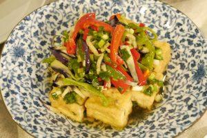 揚げ豆腐と野菜のベトナム風マリネ